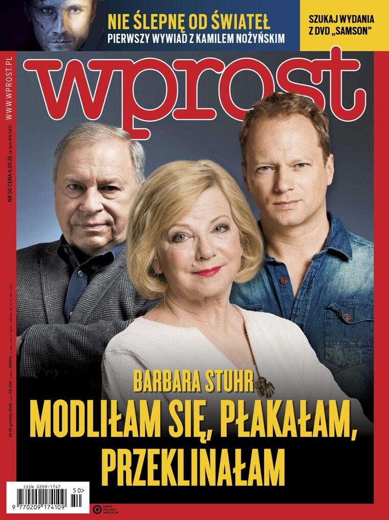 """Barbara Stuhr o chorobie męża, pierwszy wywiad z Kamilem Nożyńskim. Co w nowym """"Wprost""""?"""