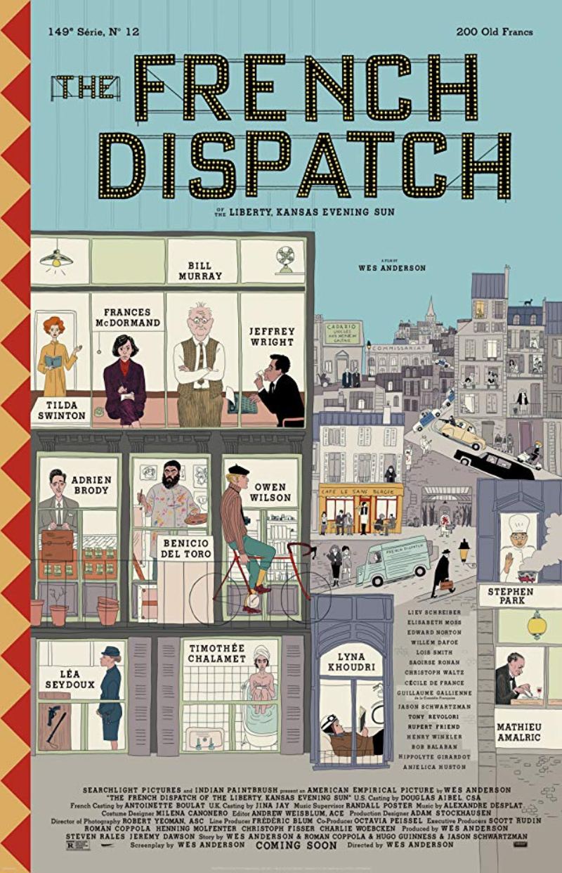 "Plakat do filmu ""The French Dispatch"""