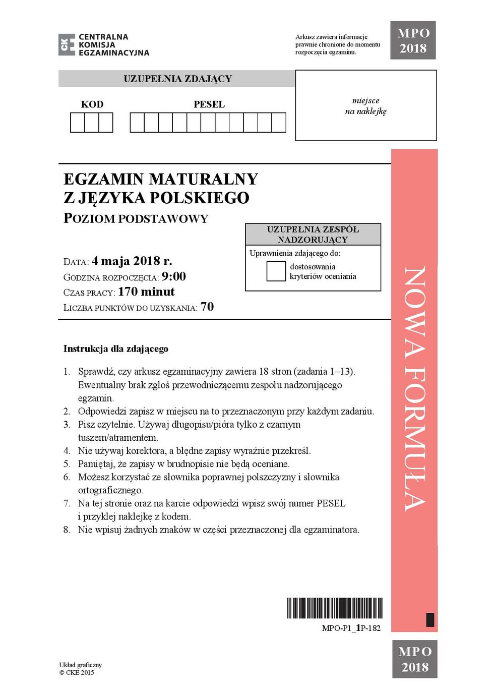 Matura Z Polskiego Lalka I Wiersz Brylla Odpowiedzi