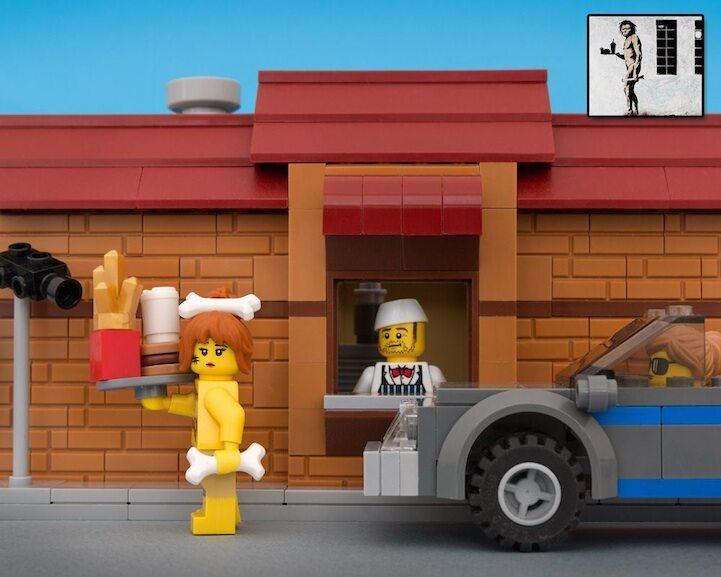 Zamienił Prace Banksyego W Figurki Klocki Lego Poznajesz