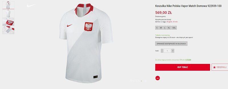 7fd8aff8f Ile kosztują nowe koszulki reprezentacji Polski? Cena