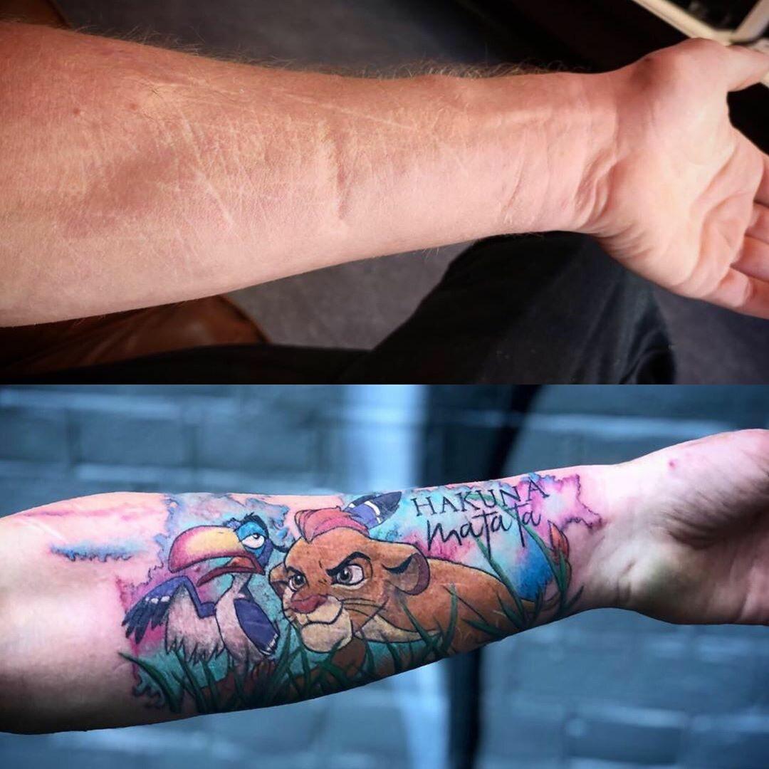 Tatuaż Tuszujący Blizny Galeria Zdjęcie 13