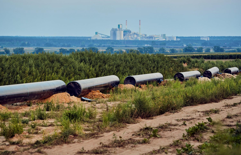 Budowa gazociągu -Gaz System (źródło:)