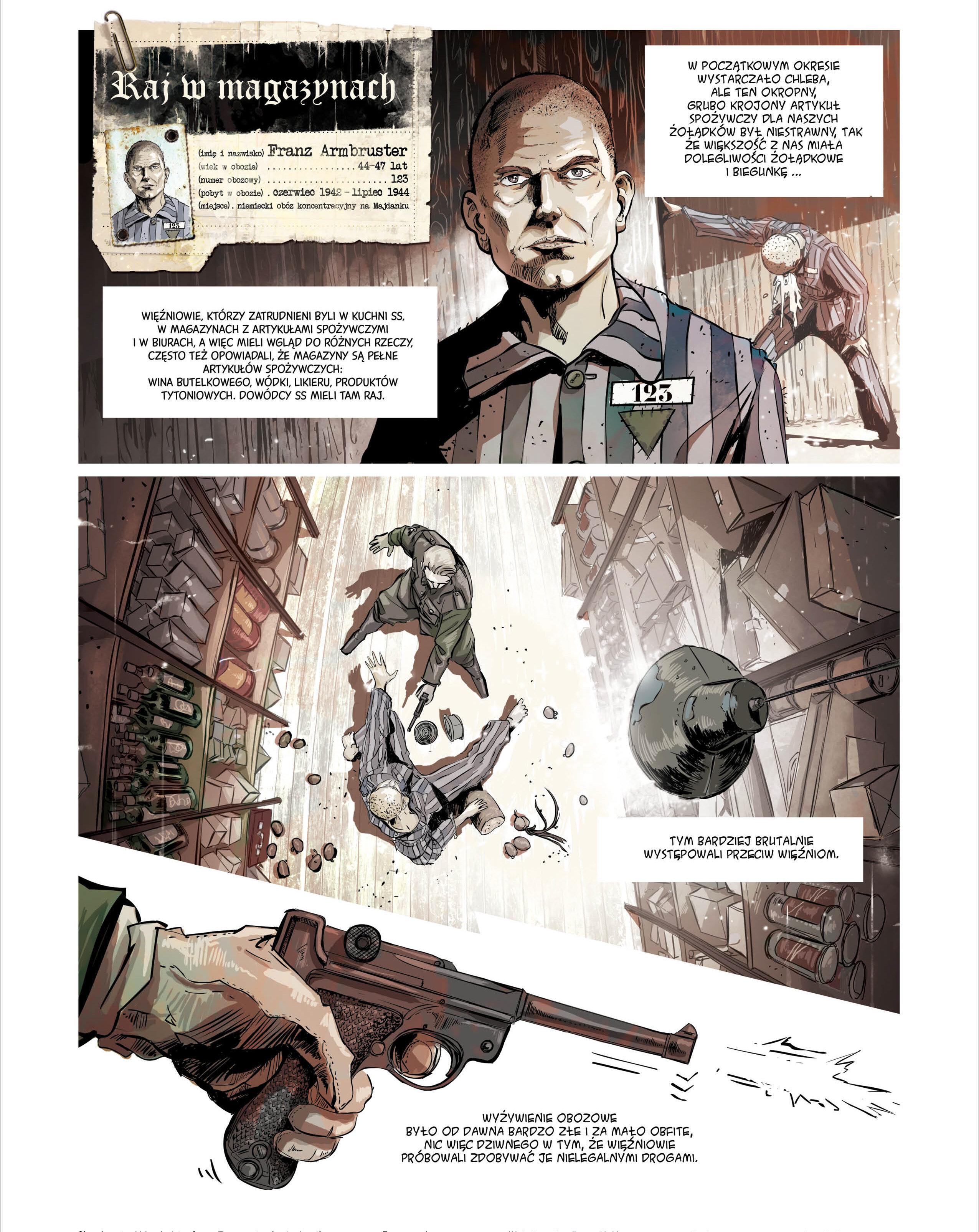 Znalezione obrazy dla zapytania Powstał komiks o więźniach Majdanka