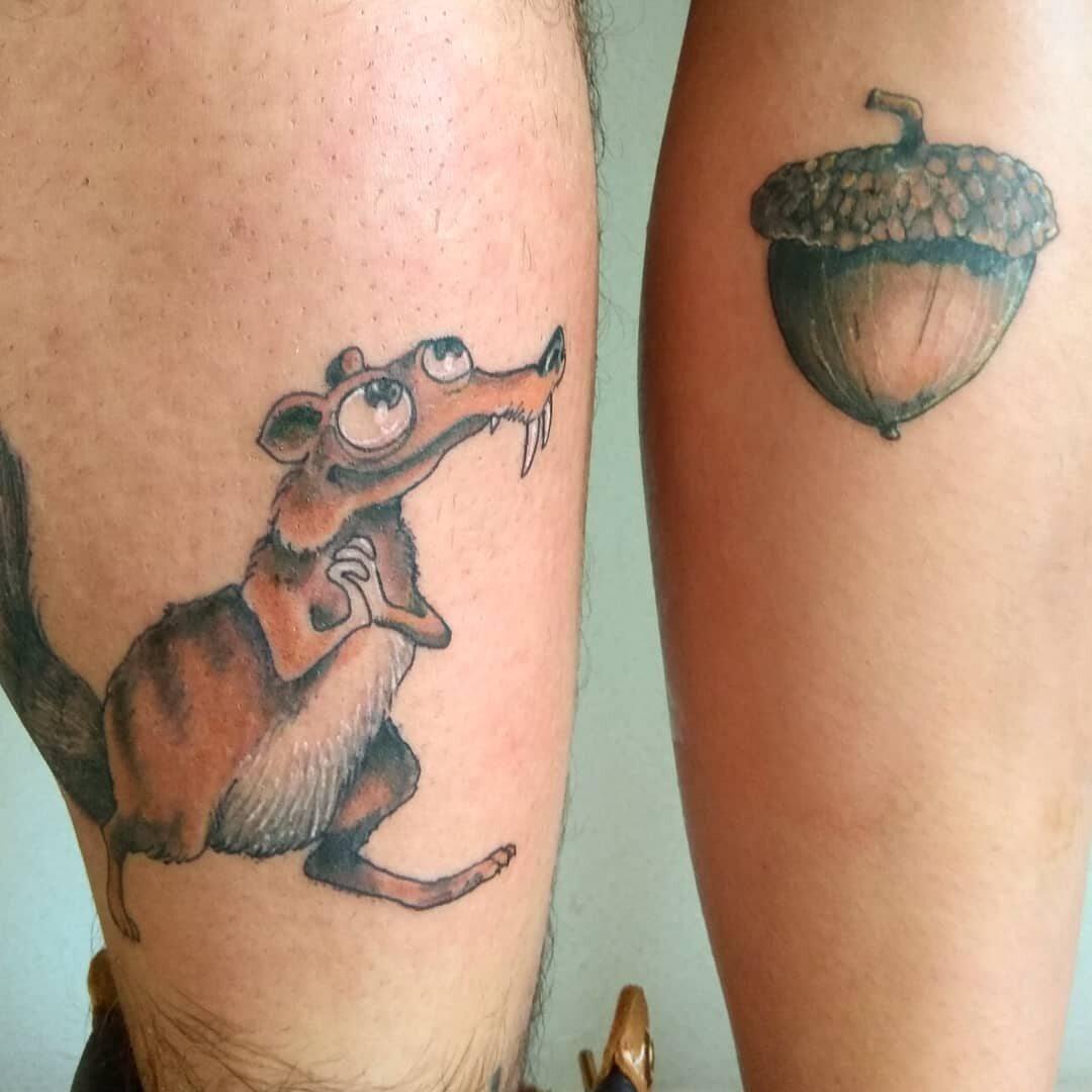 Pasujące Tatuaże Z Motywem Z Epoki Lodowcowej Zdjęcie 3