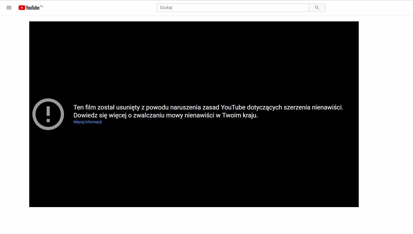 Screen z YouTube