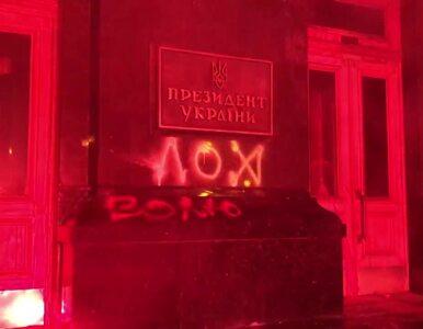 Nacjonaliści w Kijowie szturmowali siedzibę prezydenta podpalając drzwi wejściowe