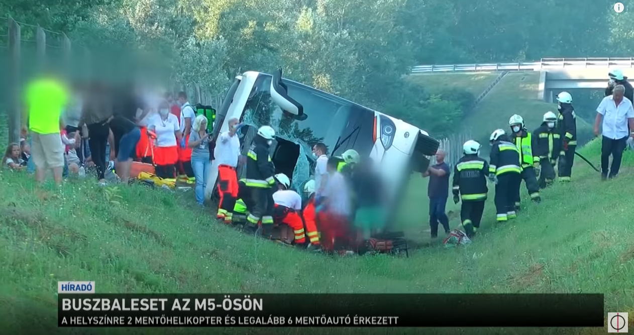 Wypadek autokaru z Polakami na Węgrzech. Wysłano autobus, trzy osoby w stanie ciężkim